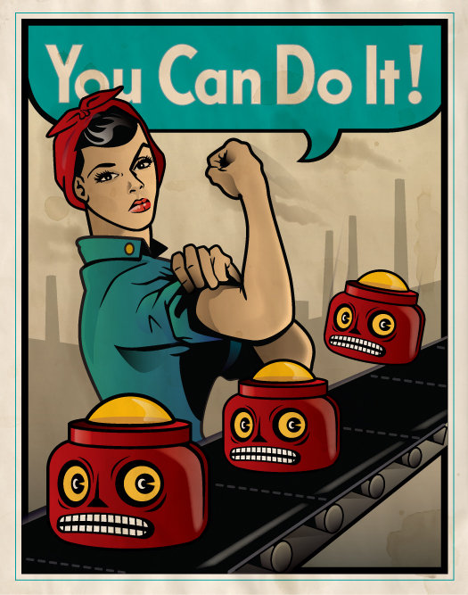 you can do it robot poster