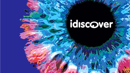 idiscover logo and flower image